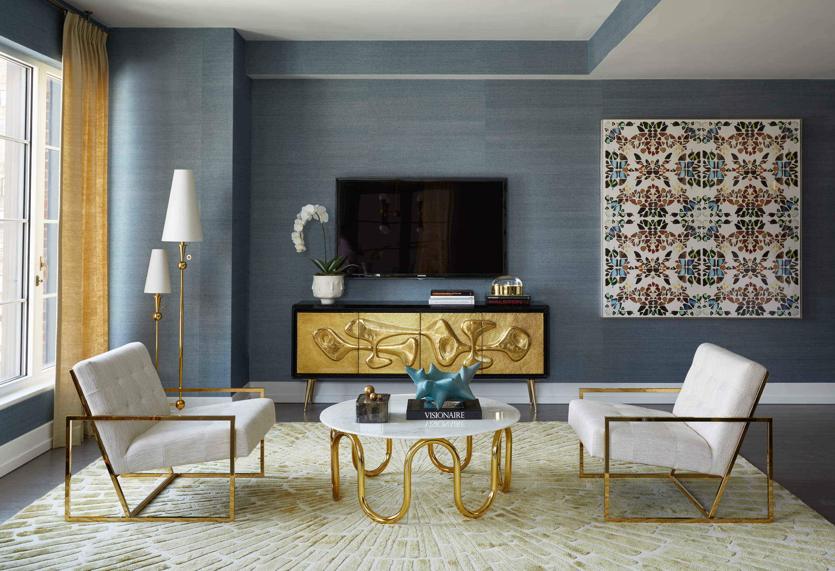 Jonathan Adler Designs A Splashy Model Apartment For Extell S 70 Charlton Curbed Ny