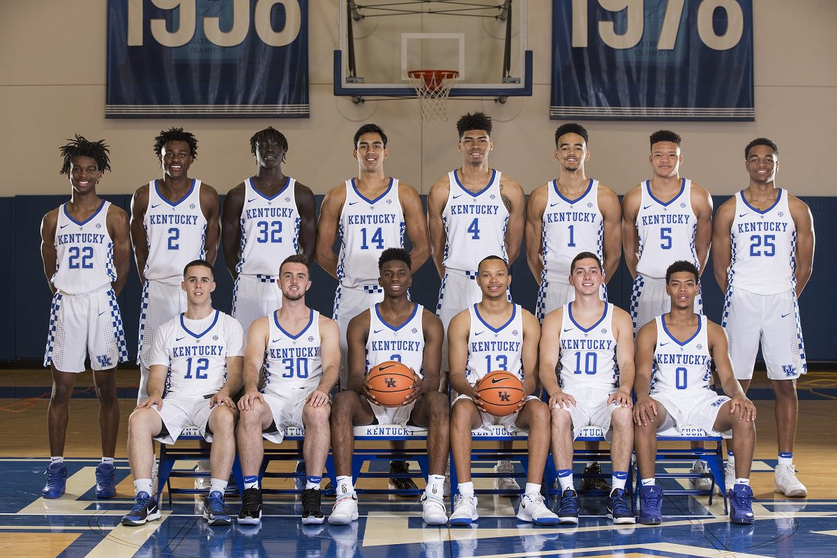 Kentucky Basketball Our First Look At The New Wildcats In: Kentucky Wildcats Basketball 2017-18 Team Photo