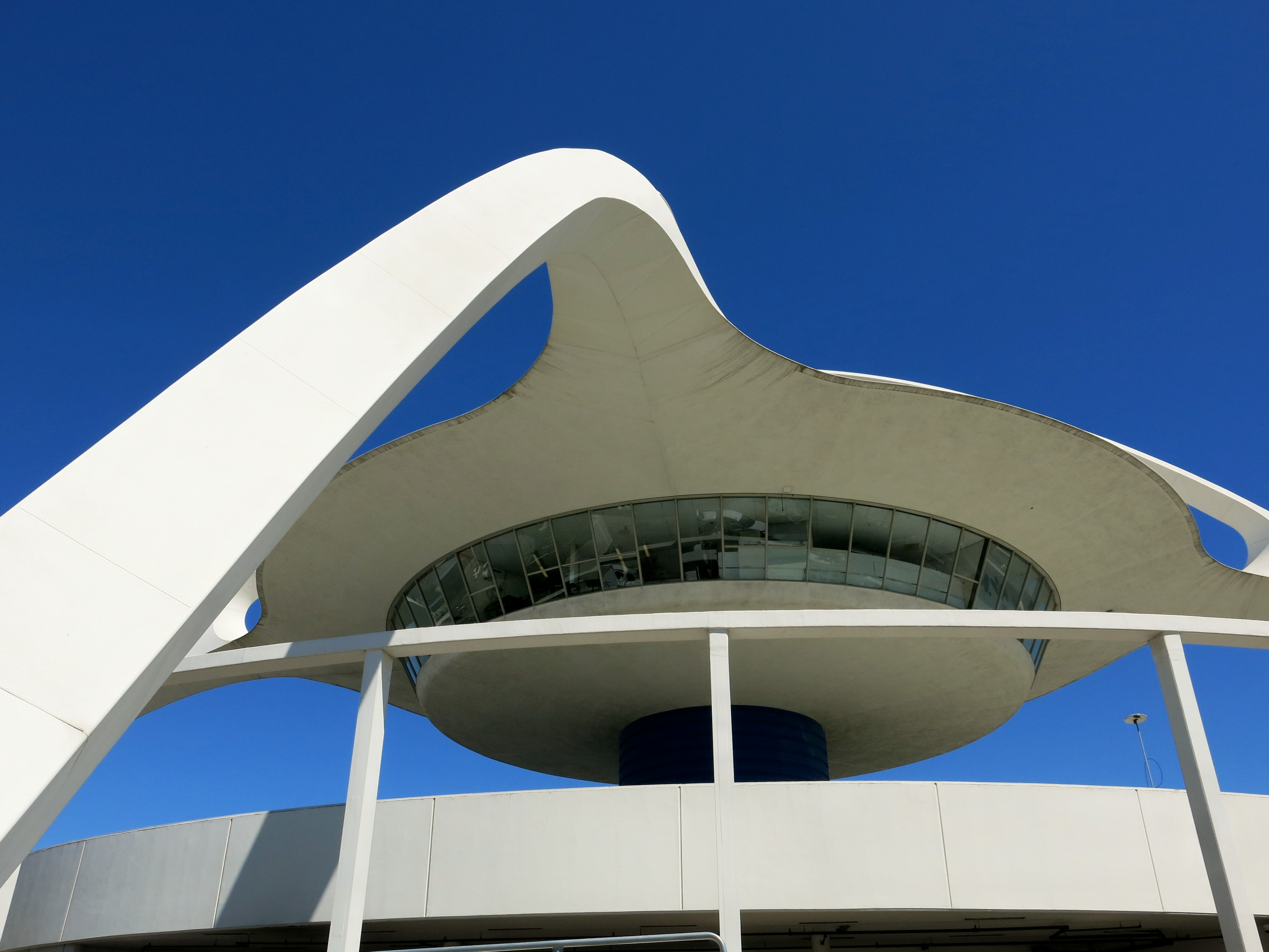 View looking up at LAX theme building