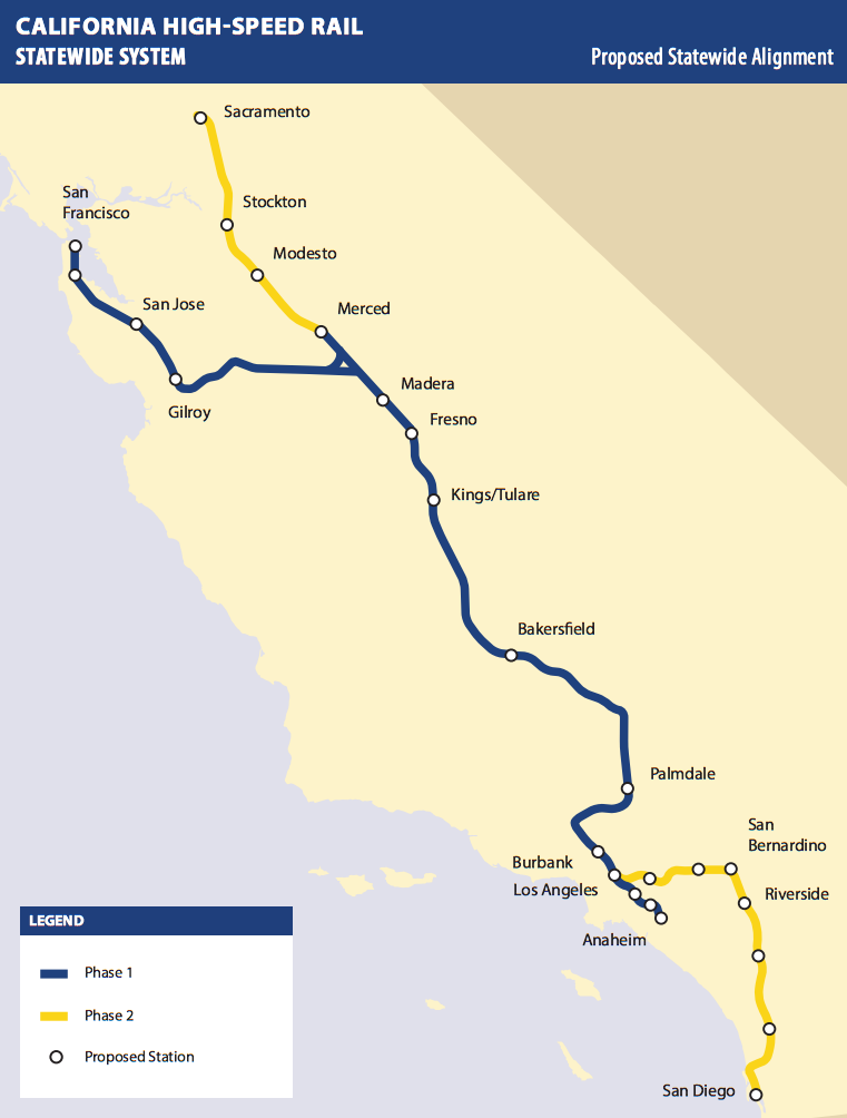 California Highspeed Rail Everything You Need To Know Update - Airports in northern california
