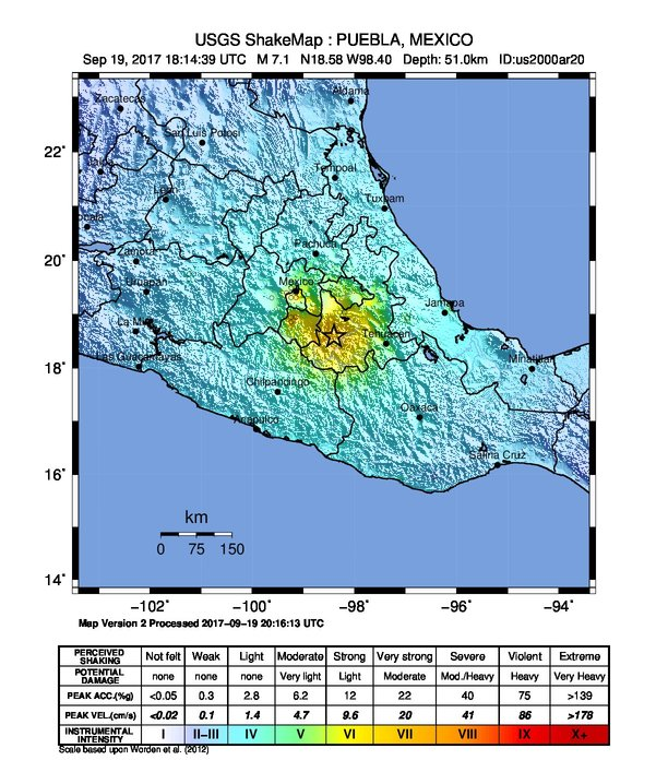 Even 100 Miles Or So Removed From The Epicenter Mexico City Felt 6 0 Magnitude Shakes