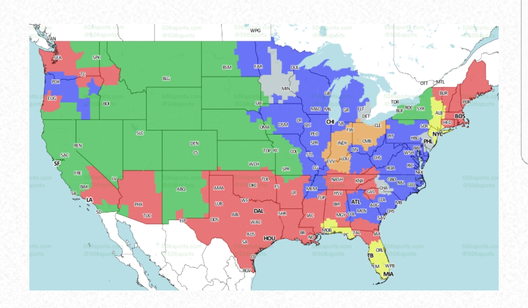 Buffalo Bills vs Denver Broncos TV broadcast map Buffalo Rumblings