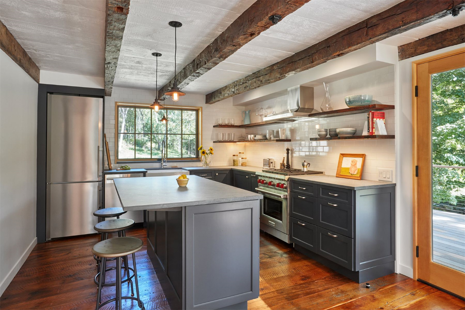 Modern farmhouse on over 38 acres outside nyc wants 1 3m for 3m kitchen ideas
