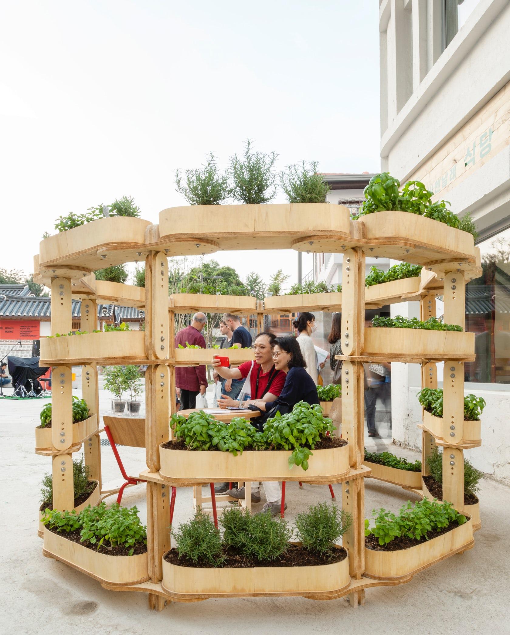 Modular de la jardinería urbana sistema se pueden crear todo tipo de macetas - Frenó 4