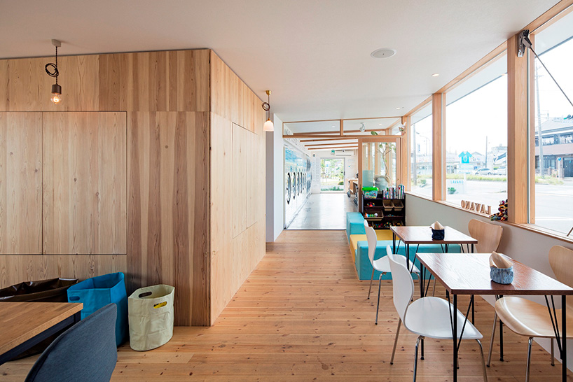 Modern Laundromat Cafe In Japan Helps Customers Pass The