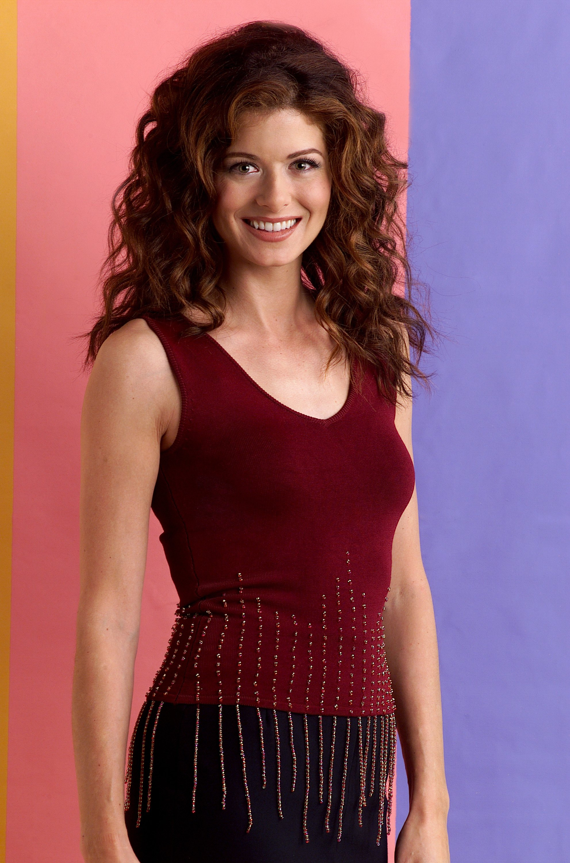 Debra Messing Braless Cool no one on 'will & grace' has changed their clothes in 19 years