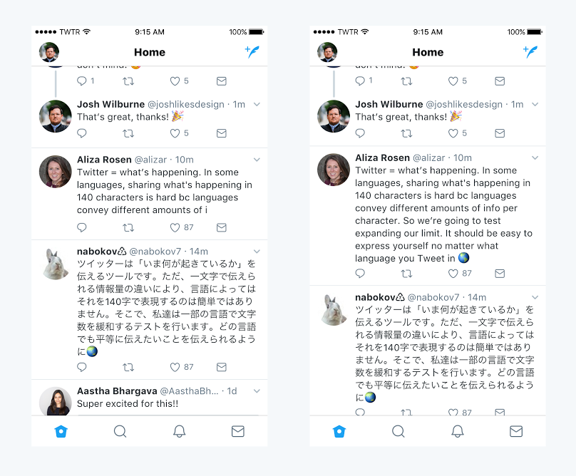 Twitter's testing a 280-character limit for tweets