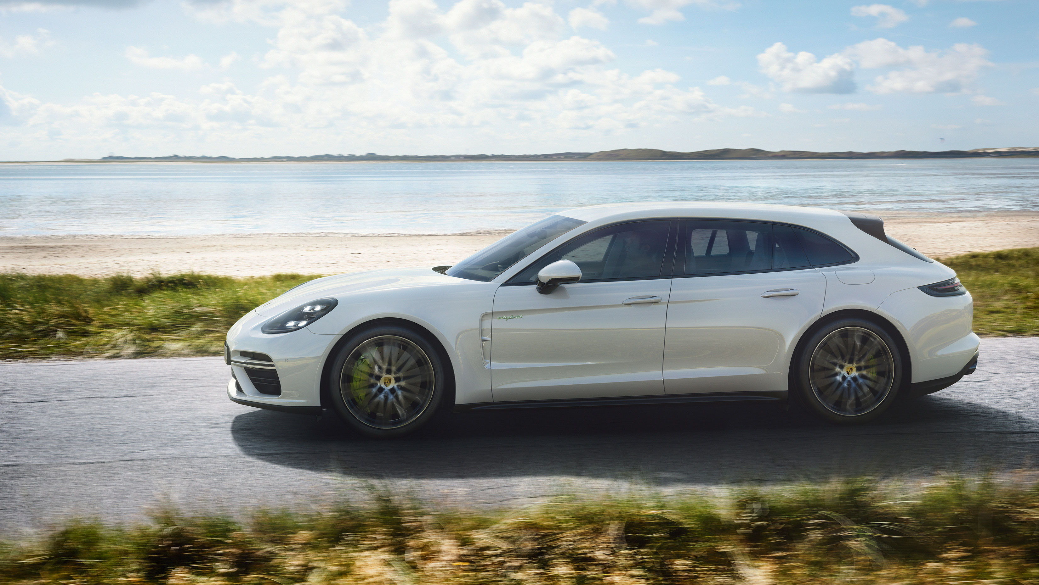 the interior of the panamera is a nice place too it has space for four five is a crowd and an interesting array of touchscreens touch capacitive