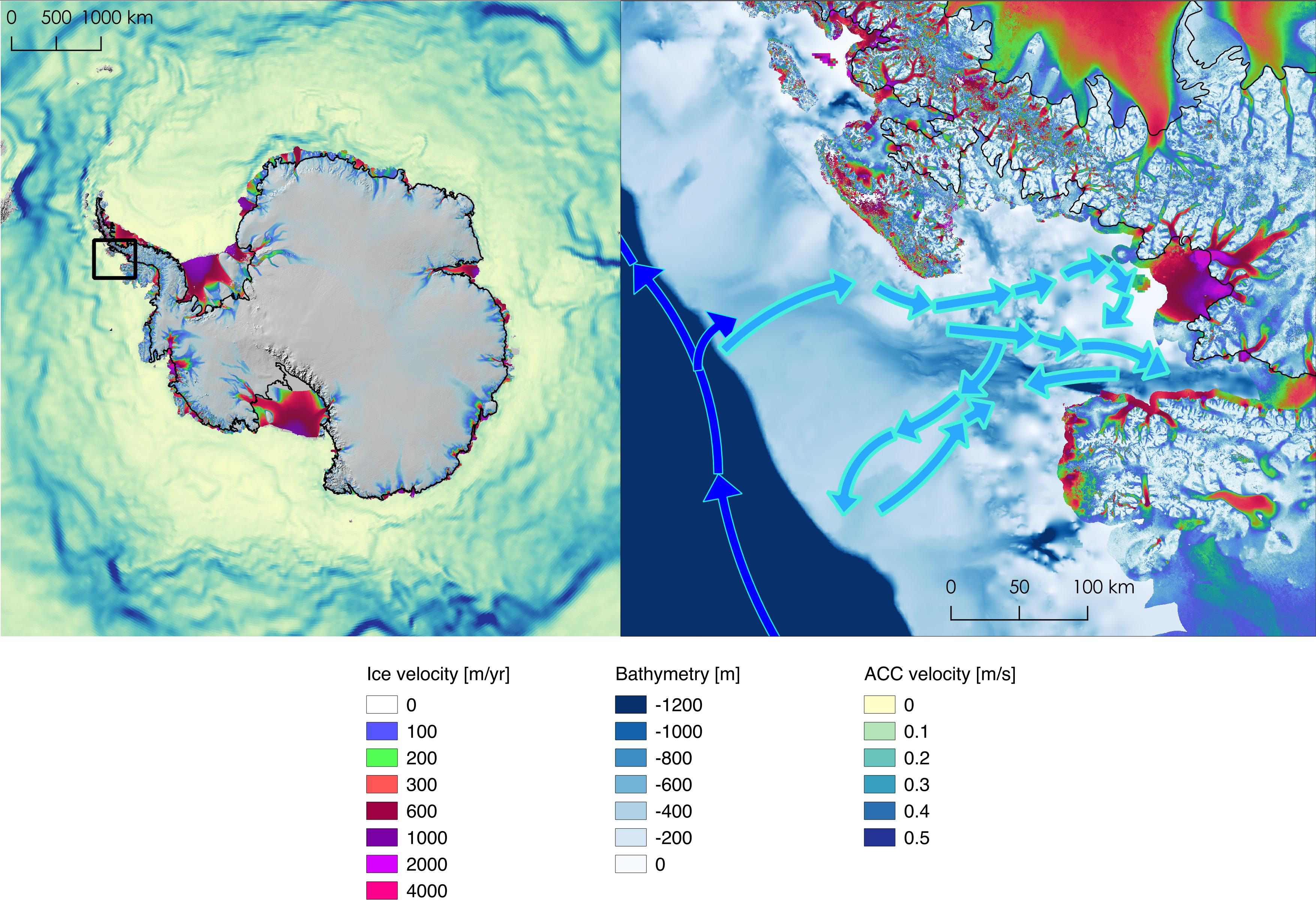 Why These Fastmelting Antarctic Glaciers Are Bad News For Sea - Ocean depth map