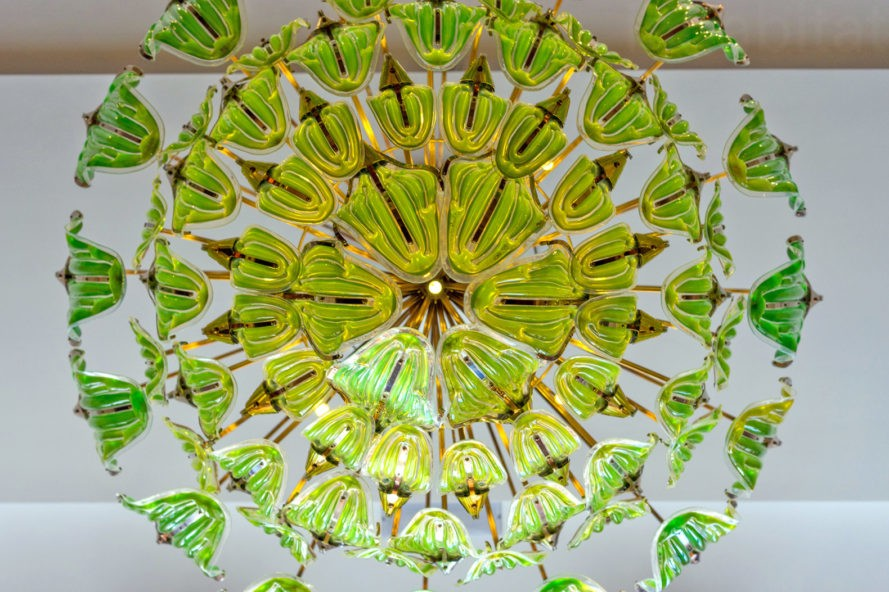 Algae chandelier also purifies the air curbed but mechiorris exhale chandelier does more than look cool as a cucumber it harnesses the power of photosynthesis to remove co2 from the air and produce mozeypictures Gallery