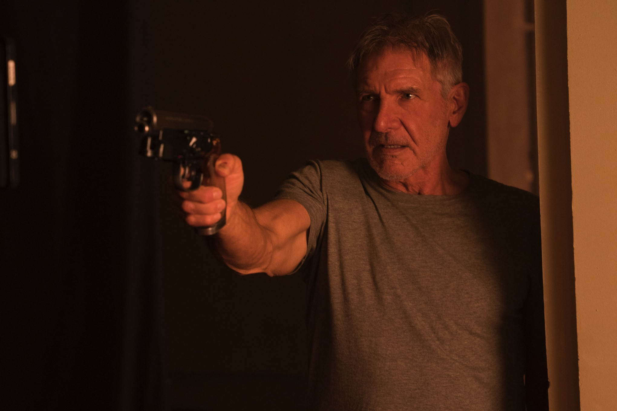 Image result for old and new deckard - blade runner 2019