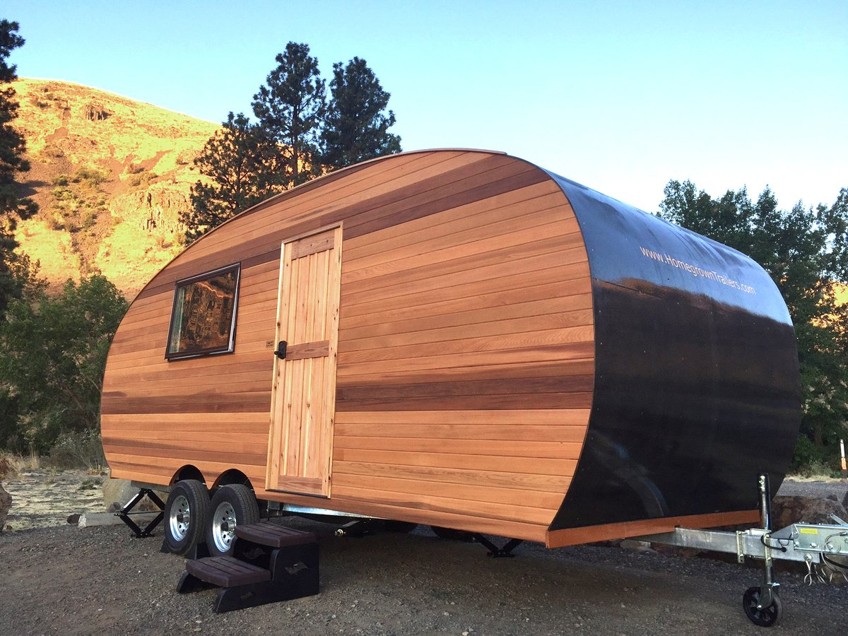 Solar Powered Wooden Trailer Is Like A Tiny Home For Your