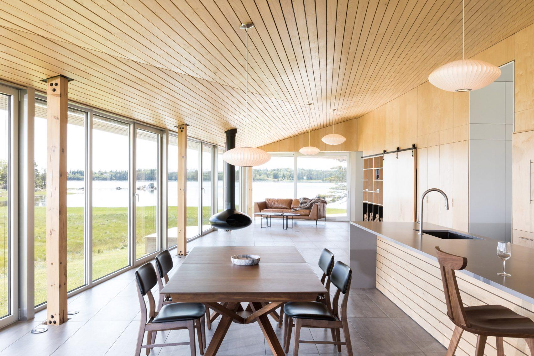 shingle style goes modern in nova scotia beach home curbed. Black Bedroom Furniture Sets. Home Design Ideas