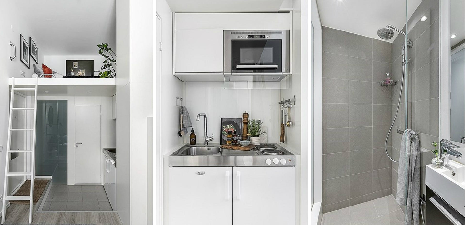 Take a closer look. Small living is taken to a stylish extreme in 100 square foot