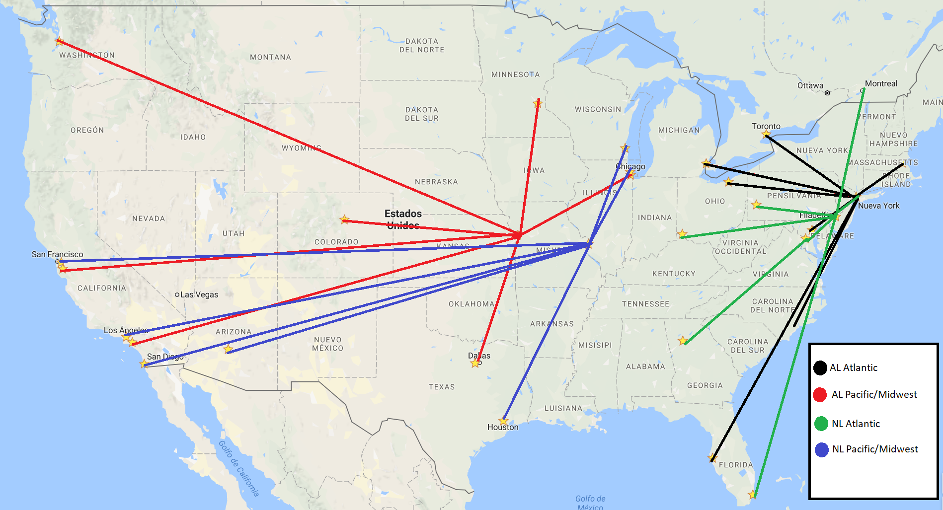 Fixing Divisions And Schedules Beyond The Box Score - Mlb us map