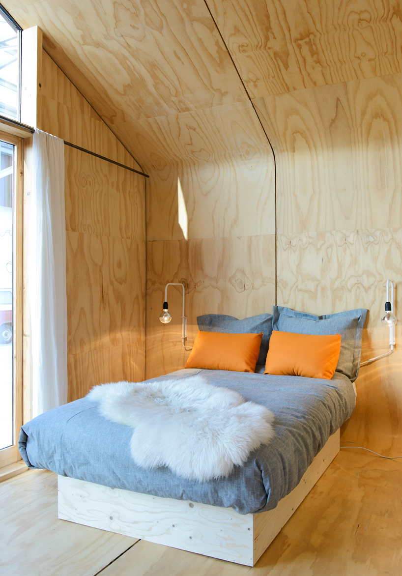 This prefab tiny house is built from 24 layers of cardboard