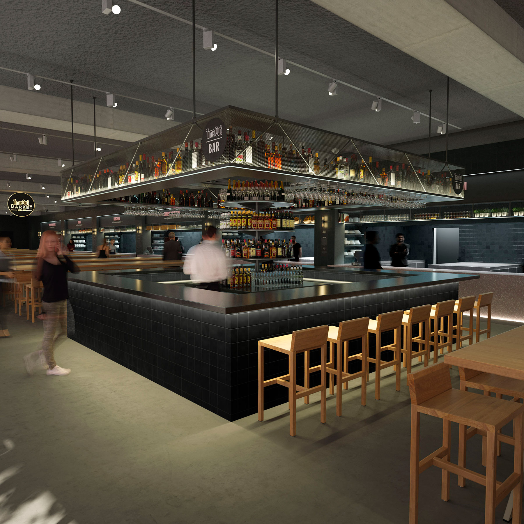 Green Kitchen And Bar Fort Lauderdale: Miami Time Out Market Unveils Renderings And Its First