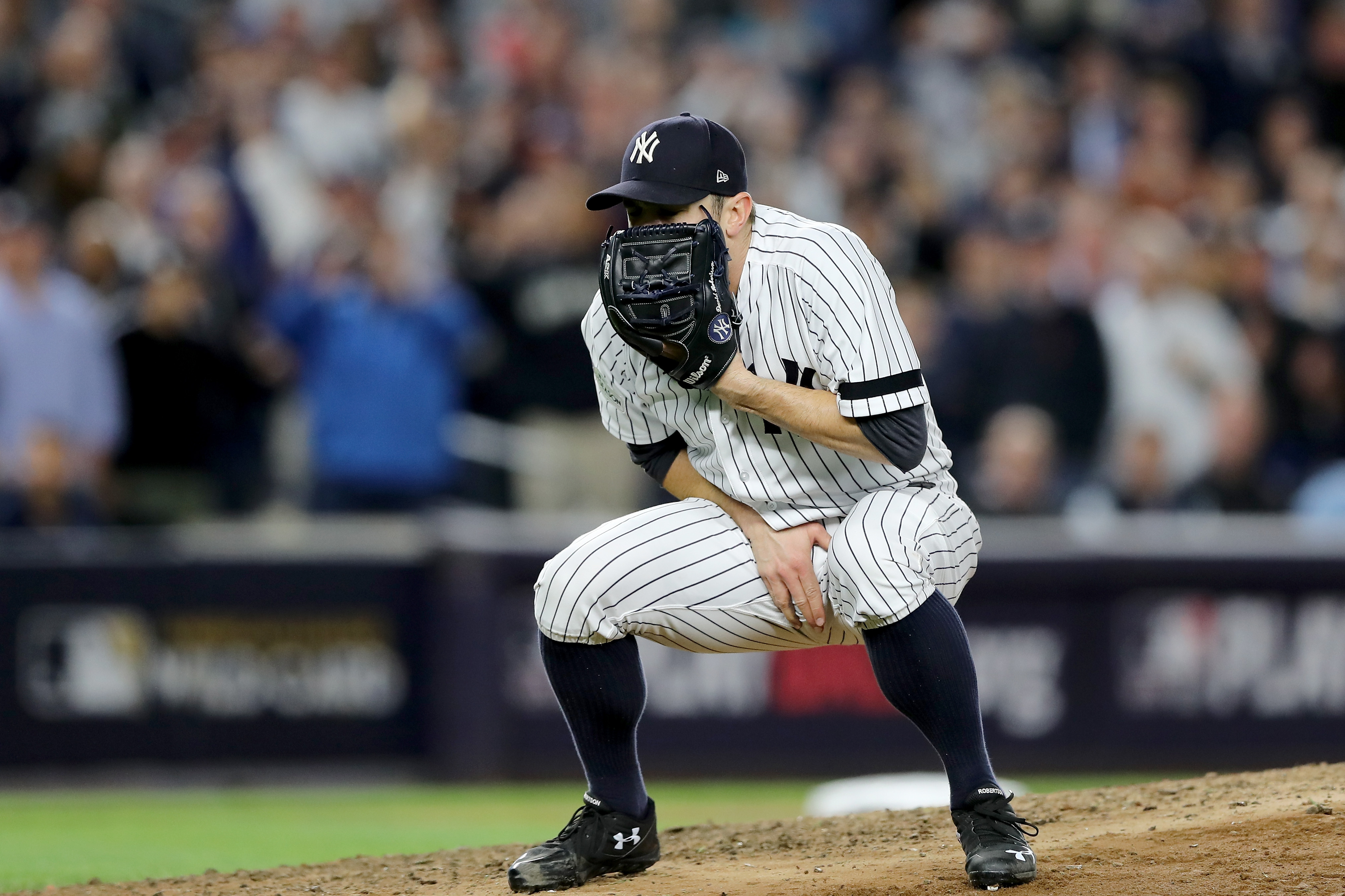 David Robertson's reaction to this groin shot says it all