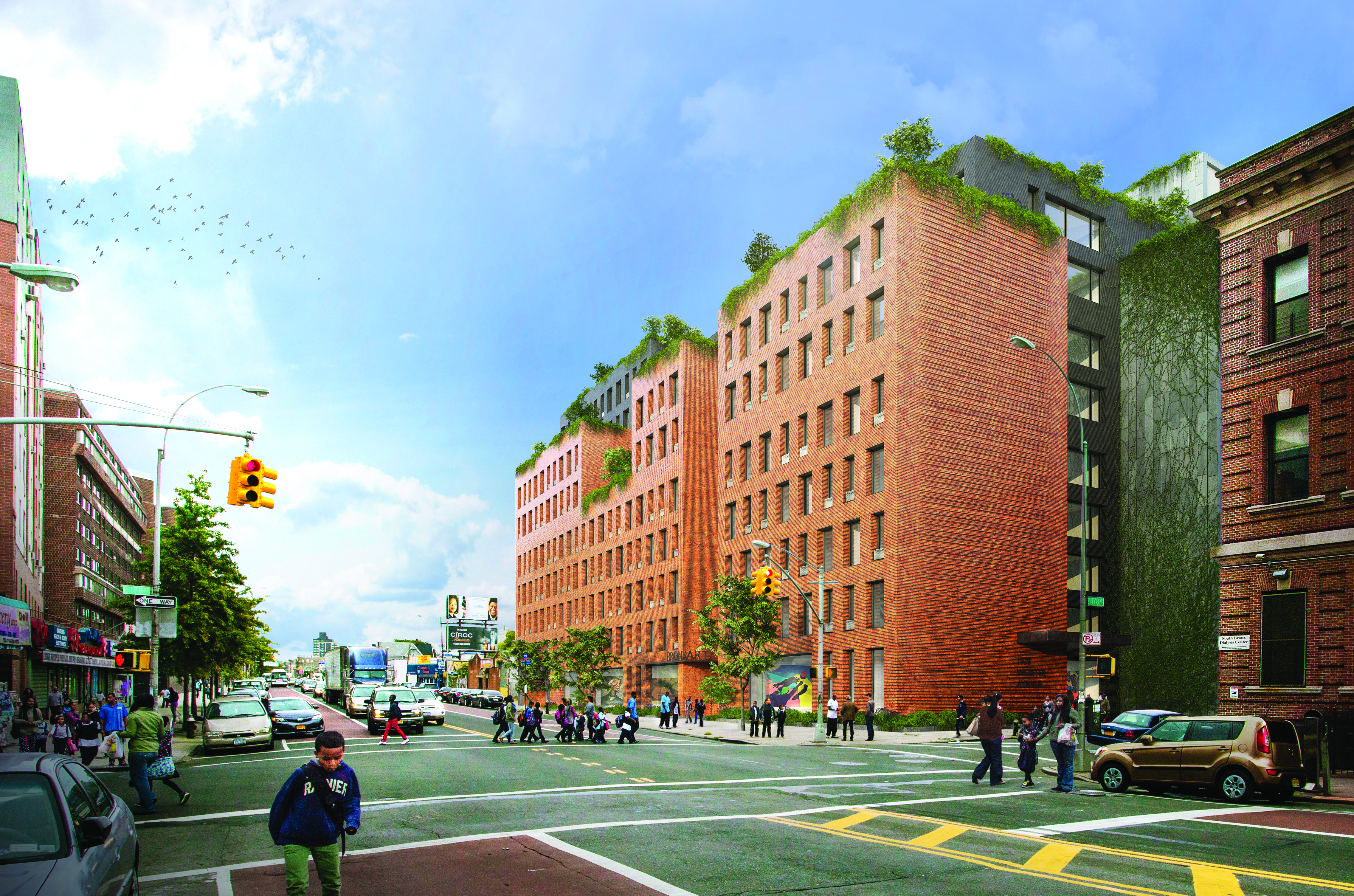 Massive COOKFOX designed affordable housing plex opens its
