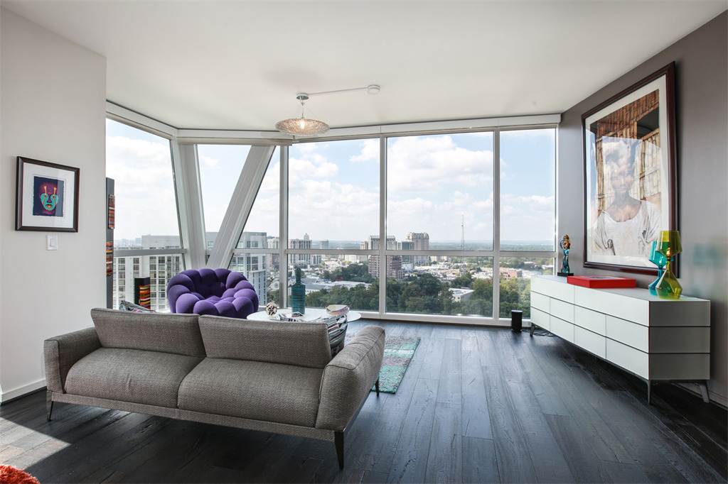 wallpaper kitchen backsplash three bedroom pad in buckhead s terminus is sleek social 3325