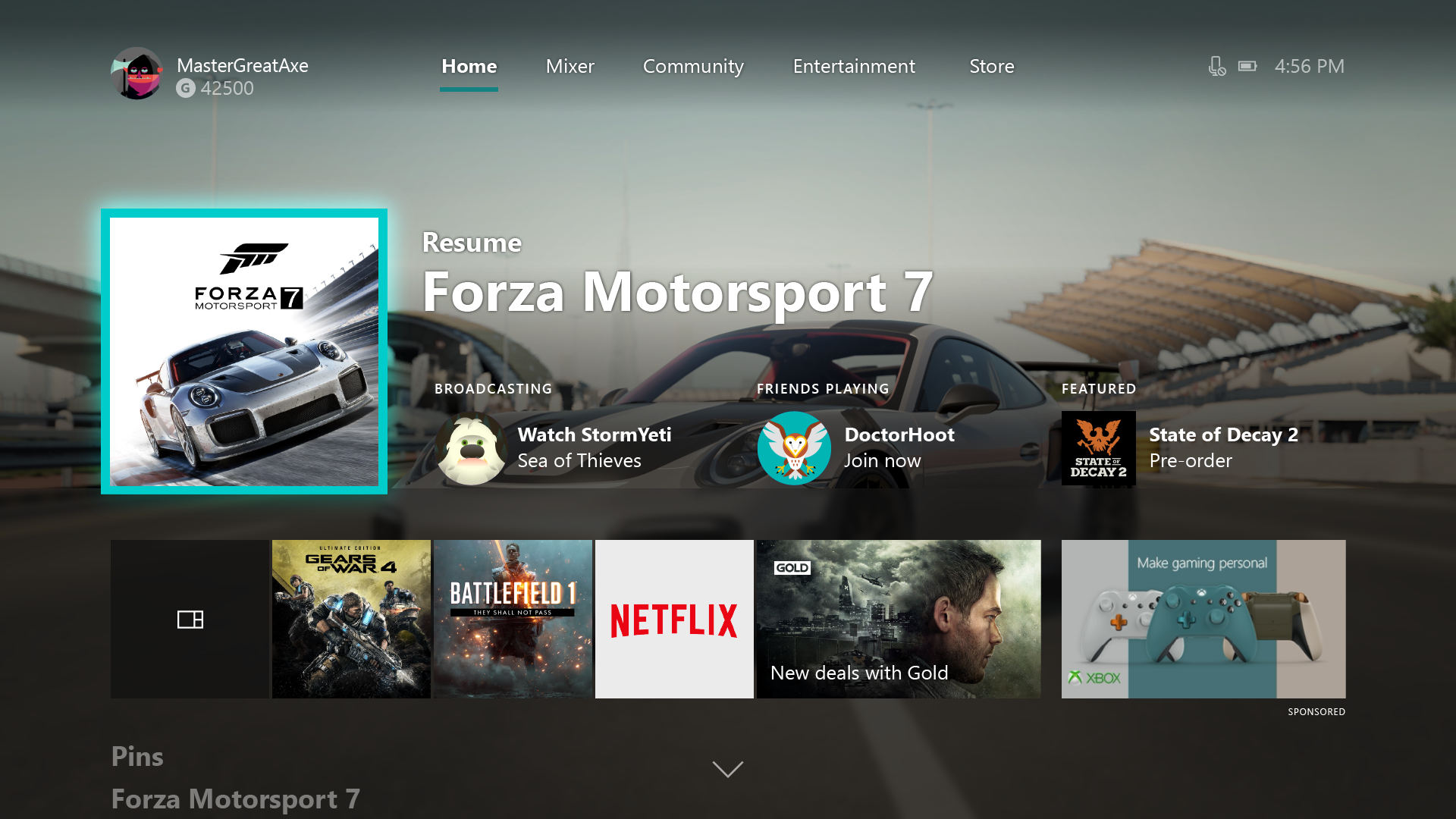 xbox one how to get to home screen