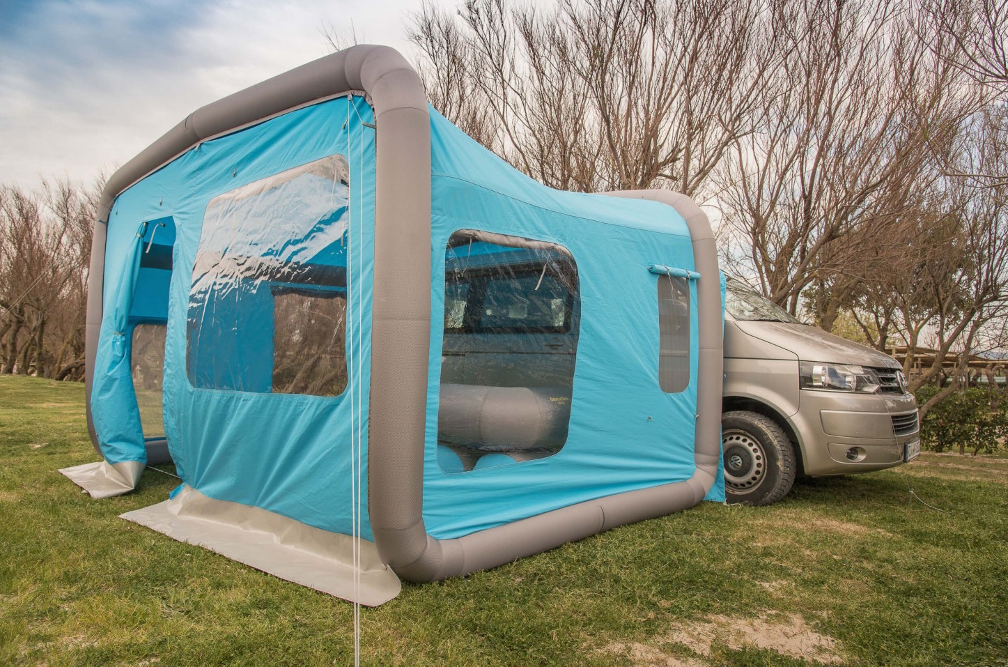 The GT Home Van tent from Gentletent retails for approximately $2100. Courtesy of Gentletent & Inflatable camping tents set up in minutes - Curbed