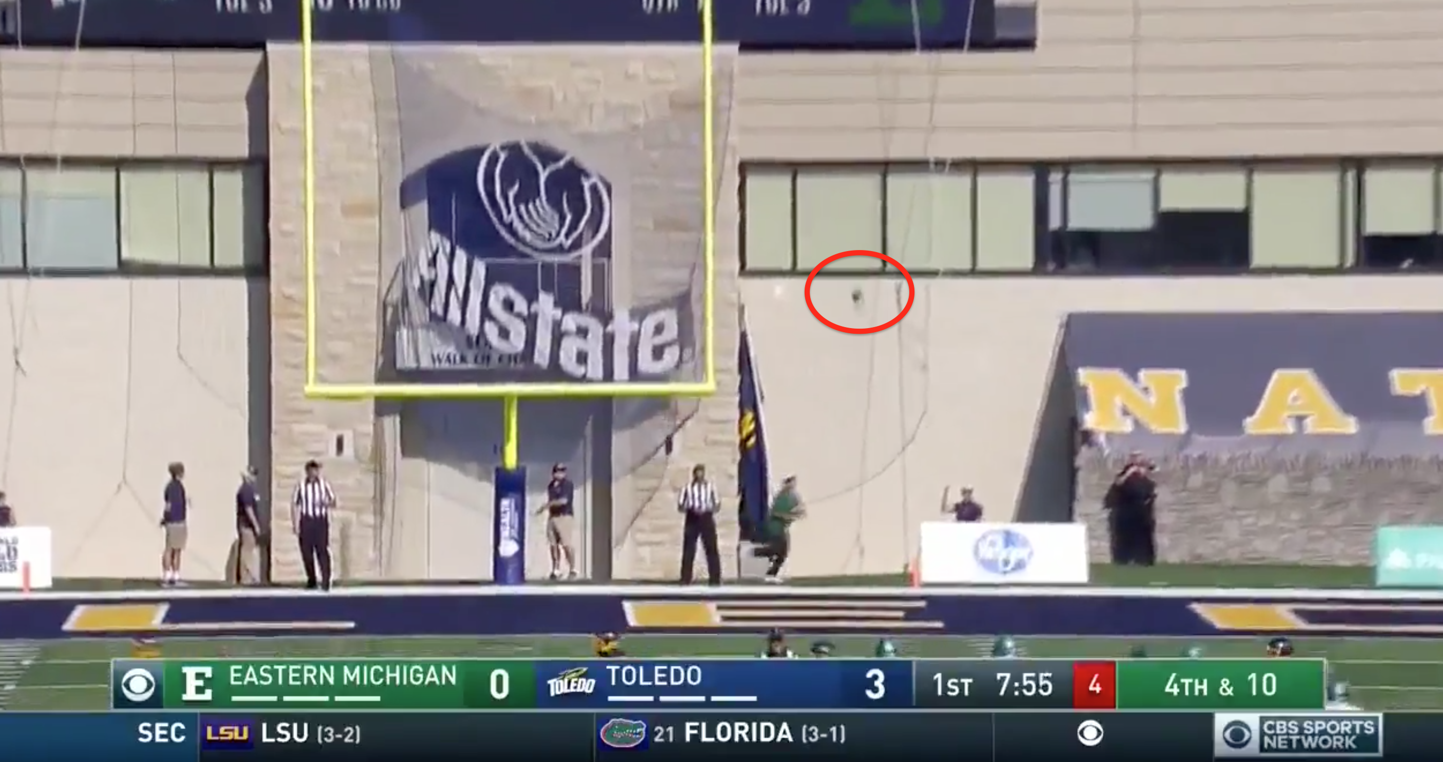 CBS Sports Network analyst Jay Feely thought this kick was good