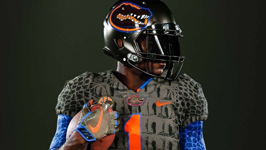 Gators football team goes full reptile with green scaly uniforms