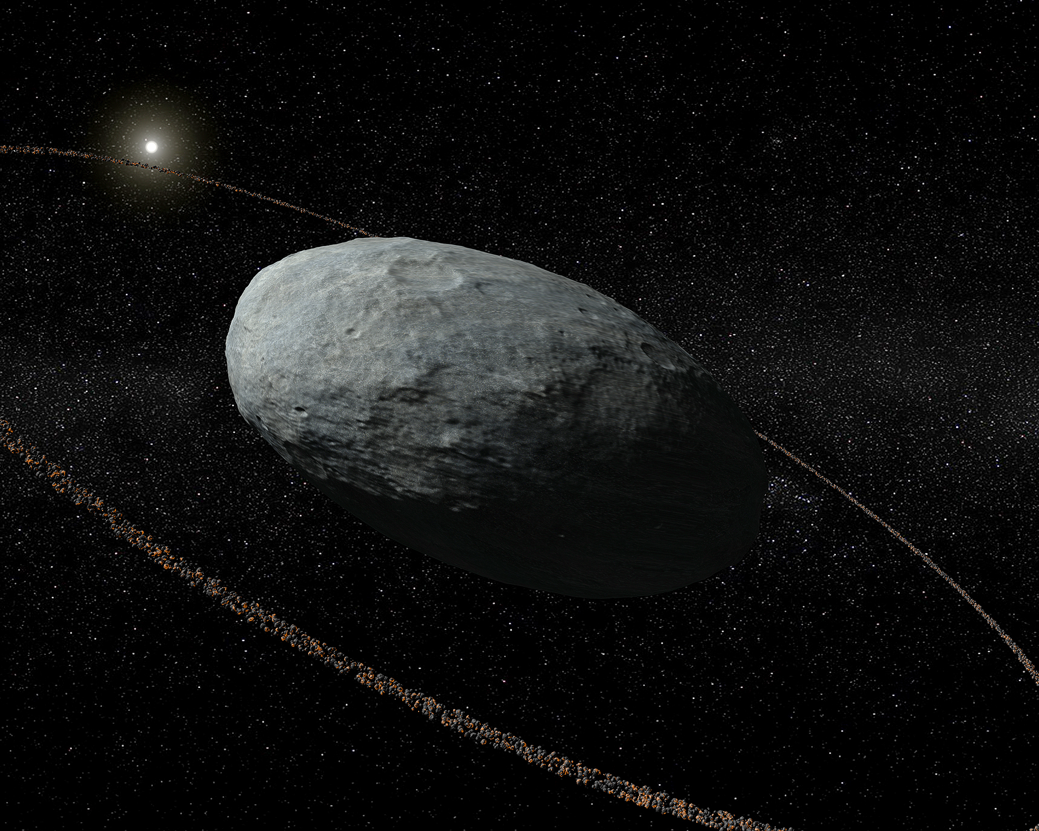 Astronomers discover a ring around egg-shaped dwarf planet ...