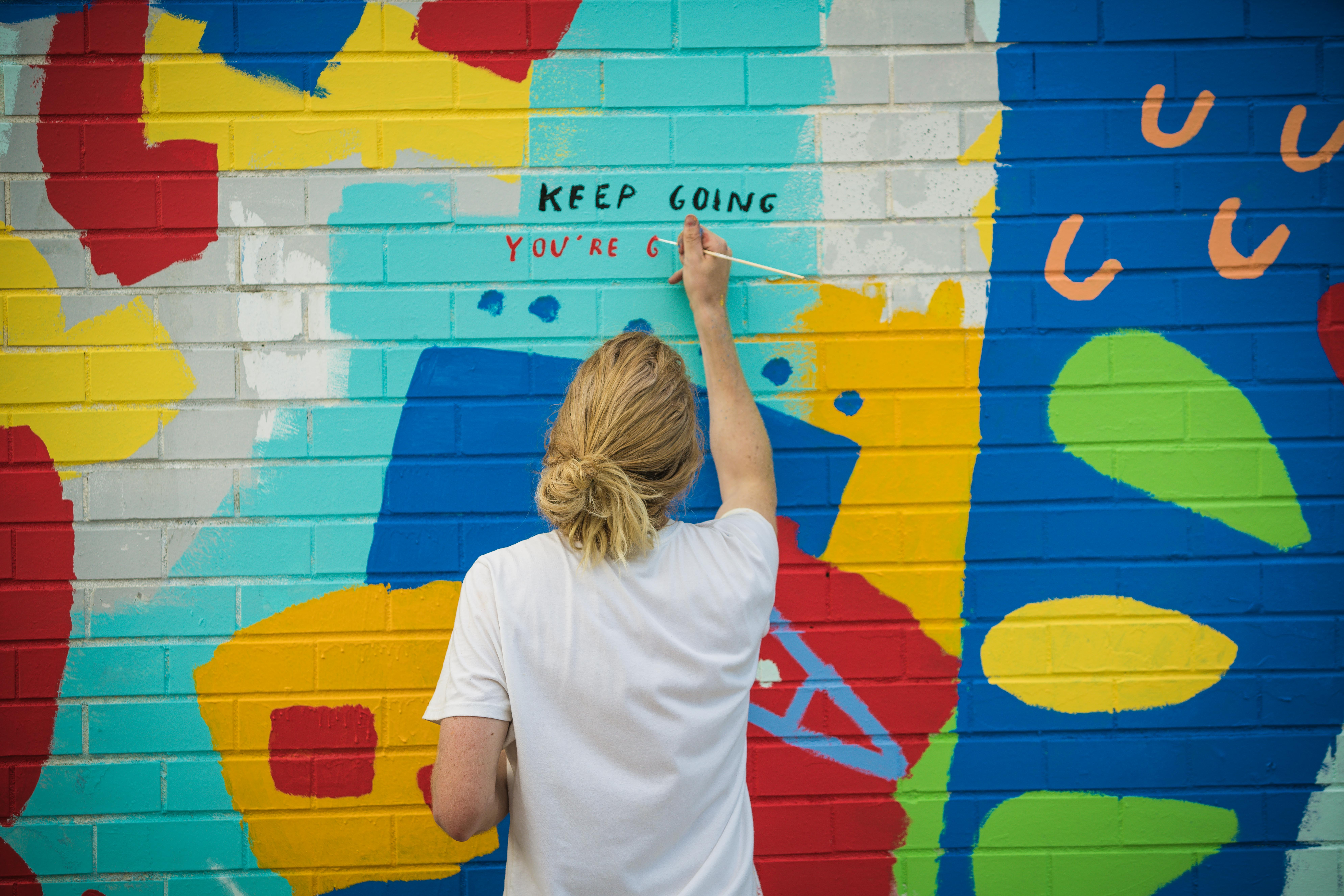 Union market is getting another colorful mural thanks to for Thank you mural
