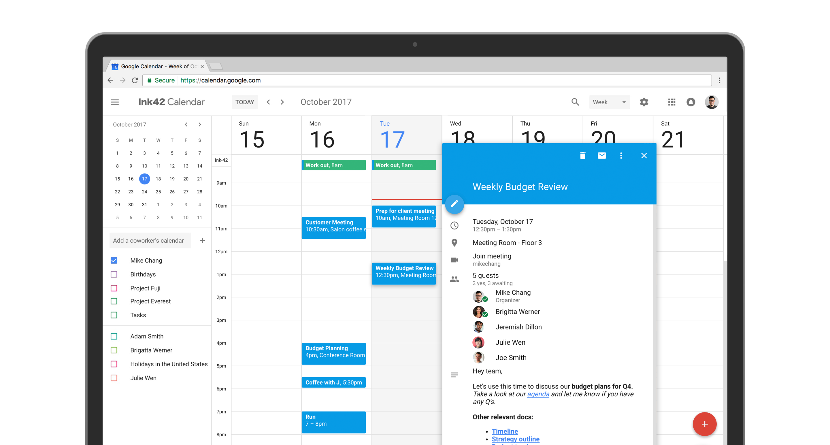 Google Calendar, Sexified With Material Design, Now Available to All Desktop Users