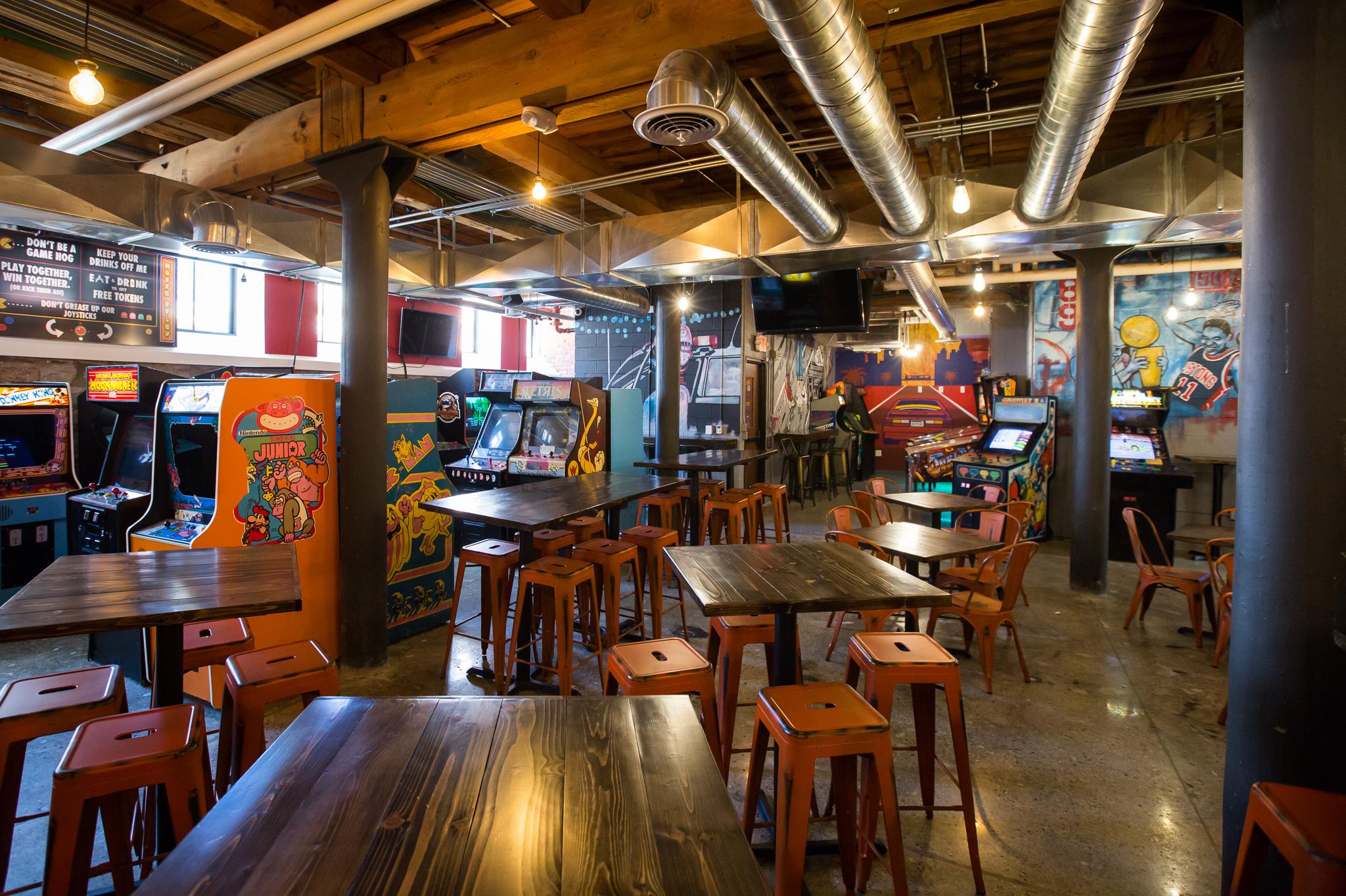 Inside Ready Player One Downtown S Basement Arcade Bar Eater