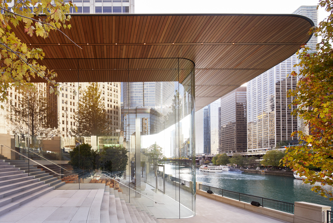 Apple unveils new Chicago store, by Steve Jobs Theater architect