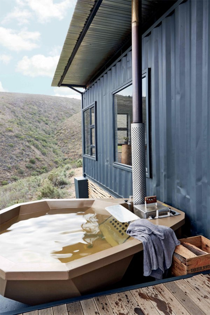 Shipping container home rental has sweet valley views curbed for Kitchen bins cape town