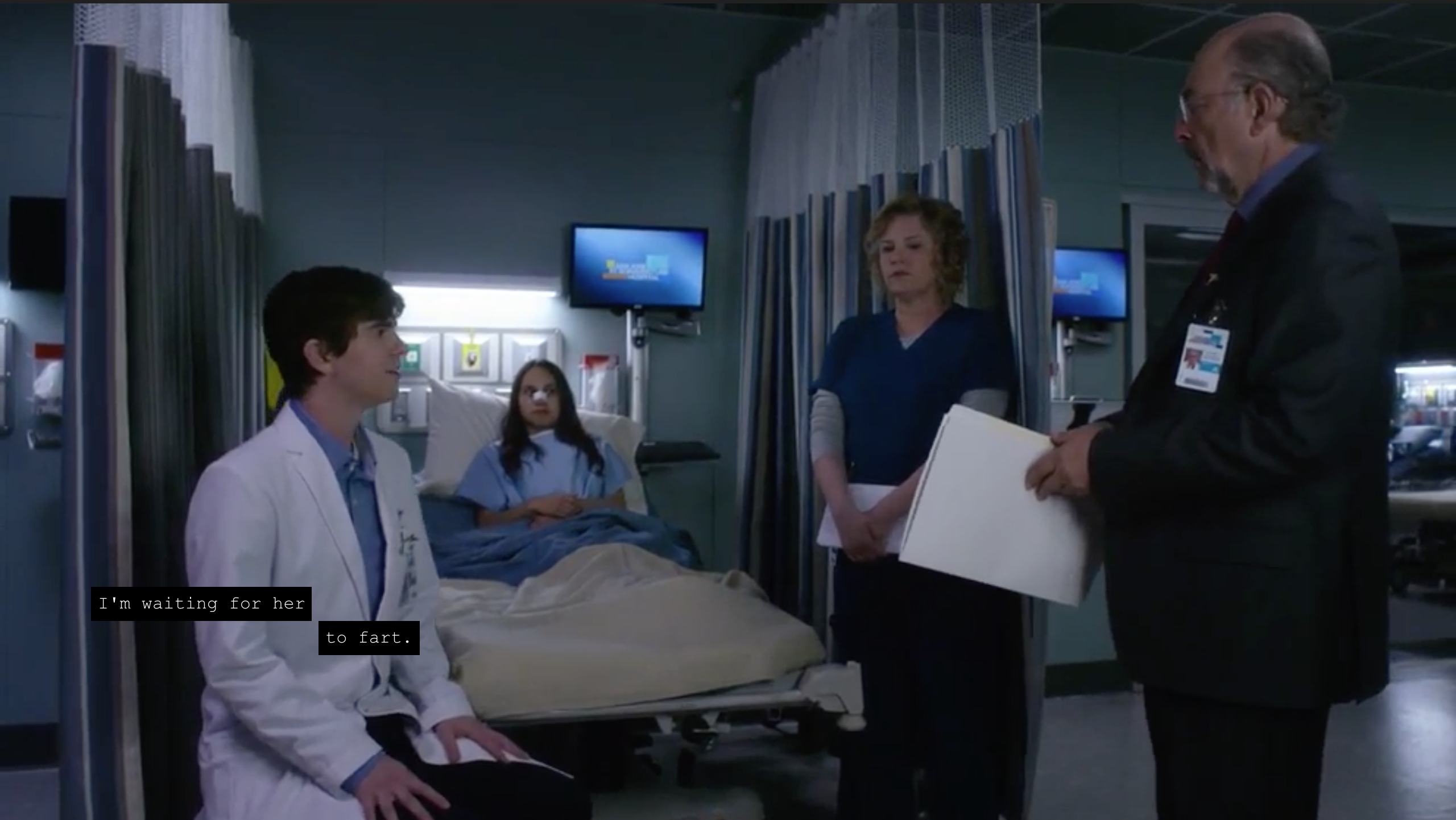 51 questions about the good doctor the ringer shaun sitting at a patients bedside saying im waiting for her to biocorpaavc