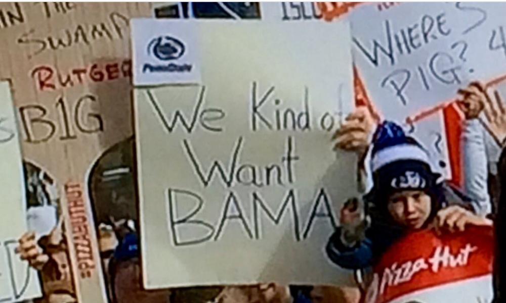 bama_sign college football's 'we want bama' signs meme, explained sbnation com