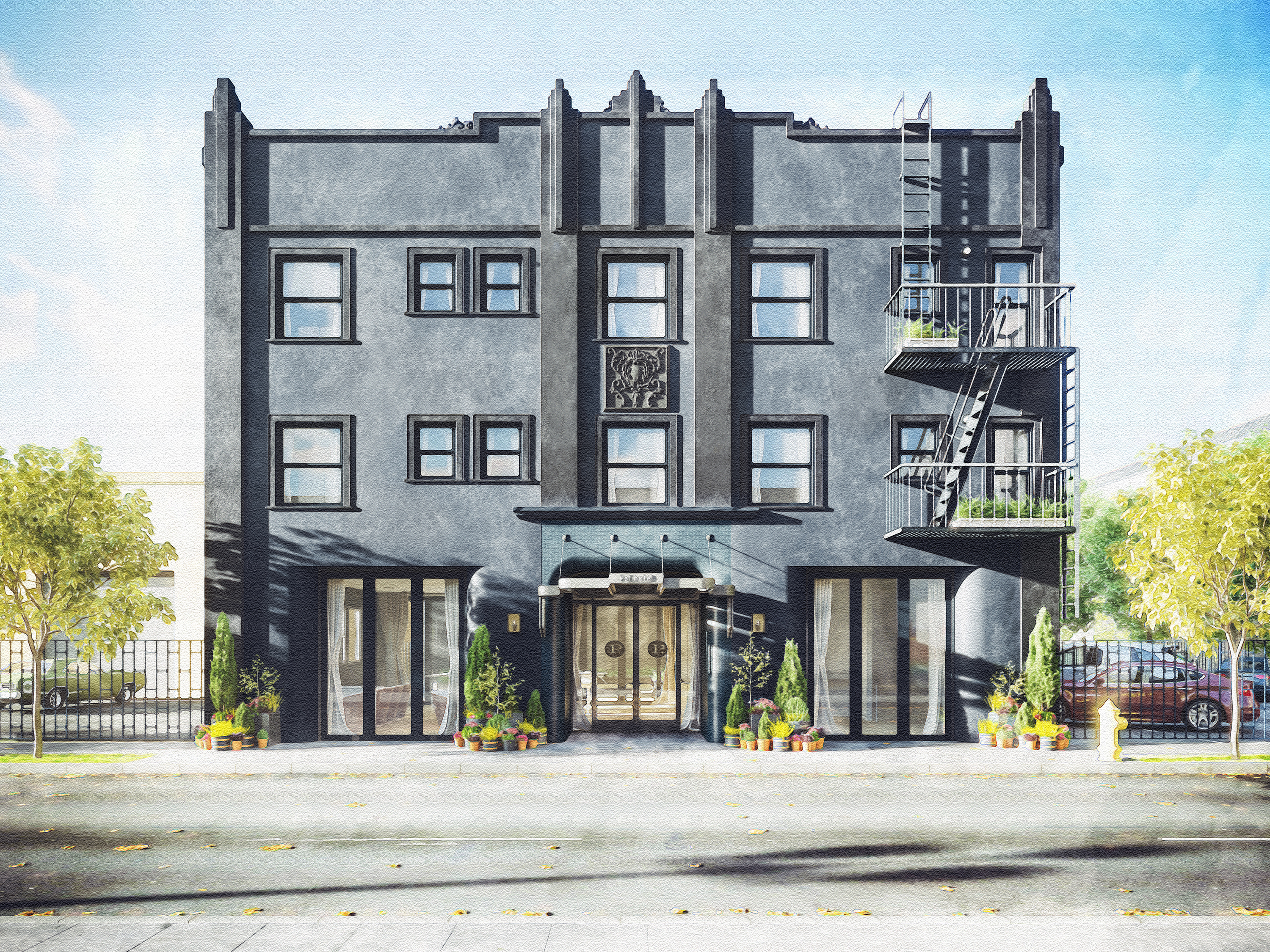 A Rendering Of The Palihotel Culver City Courtesy Palihouse