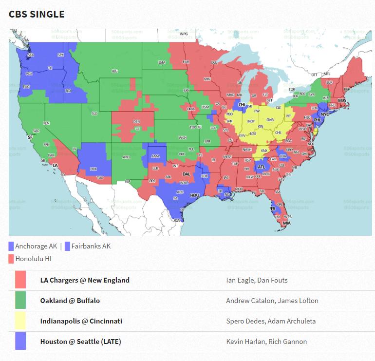 NFL Week 8 coverage map Cincy Jungle