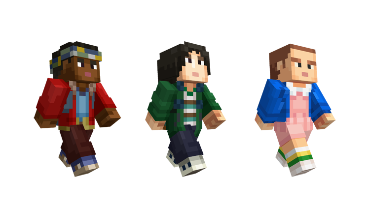 Stranger Things Skin Pack For Minecraft Is The Only Way To Bring - Skins para minecraft pc con capa
