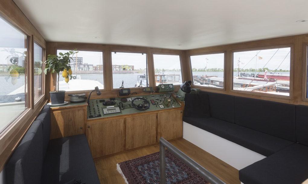 1950s cargo ship transforms into bright modern home