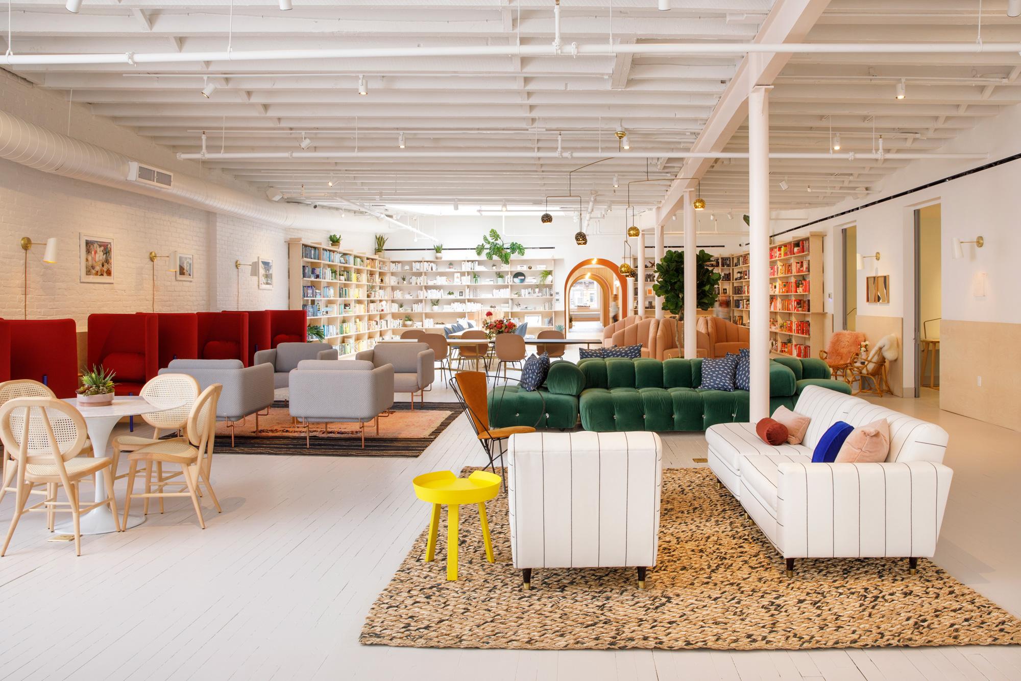 Designs Of The Interior Peek Inside The Wing's New Instagramworthy Soho Social Club