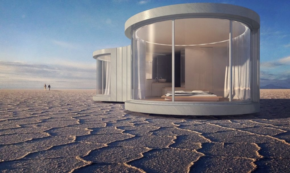 Prefab 'cocoon' concept designed for extreme glampers
