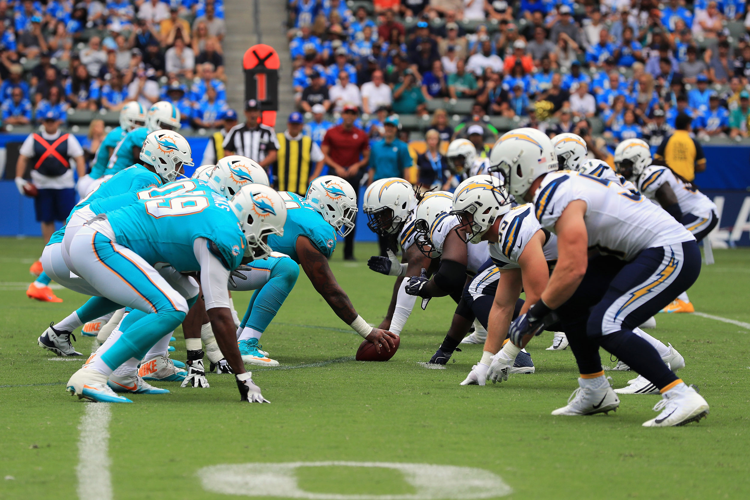Miami Dolphins and Los Angeles Chargers