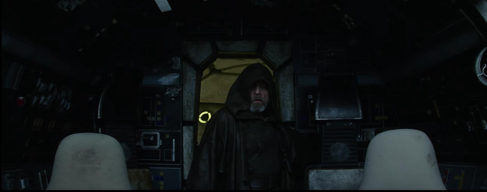 Luke And The Millennium Falcon Reunite In New Last Jedi