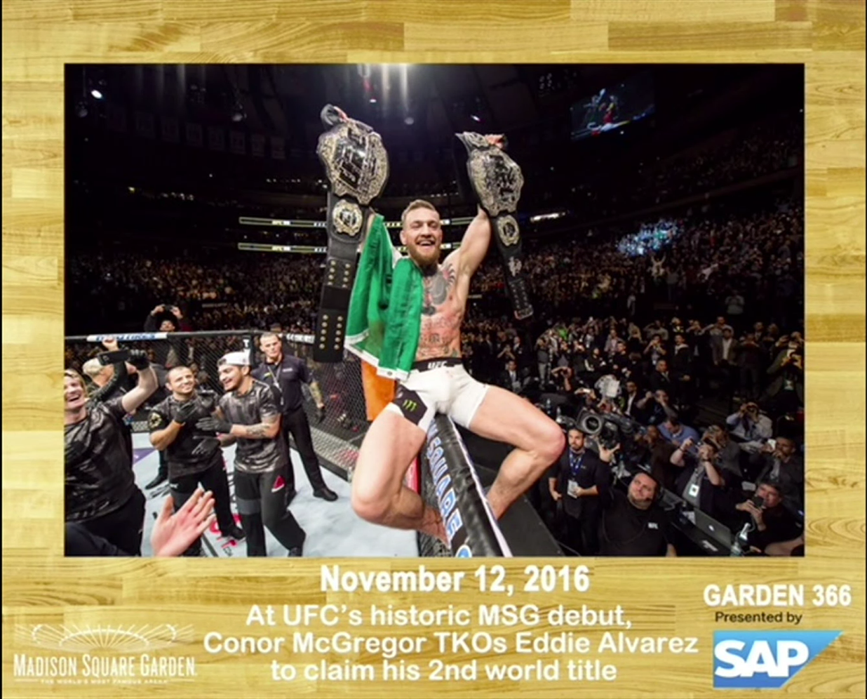 Pic conor mcgregor earns spot in madison square garden s - History of madison square garden ...
