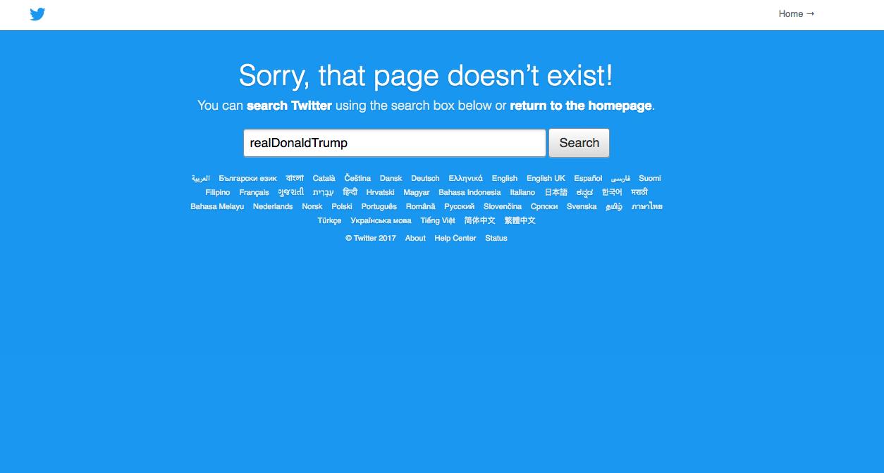 Donald Trump Twitter Account Gone Realdonaldtrump