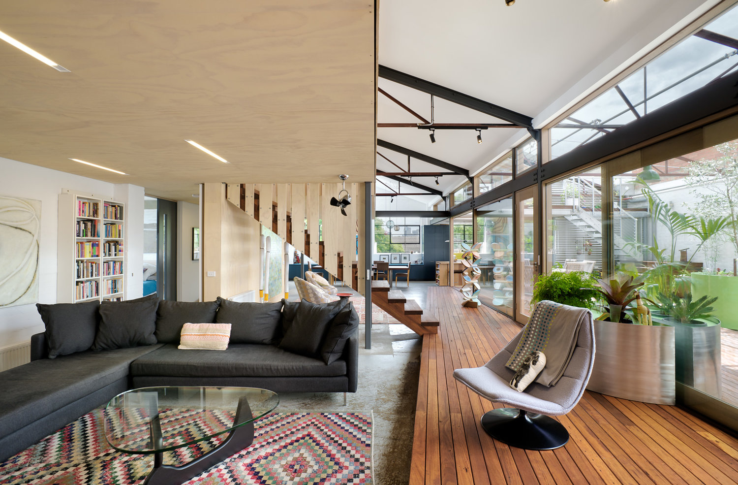 green home design. Via  Inhabitat Dwell 1960s warehouse becomes hip green home in Melbourne Curbed