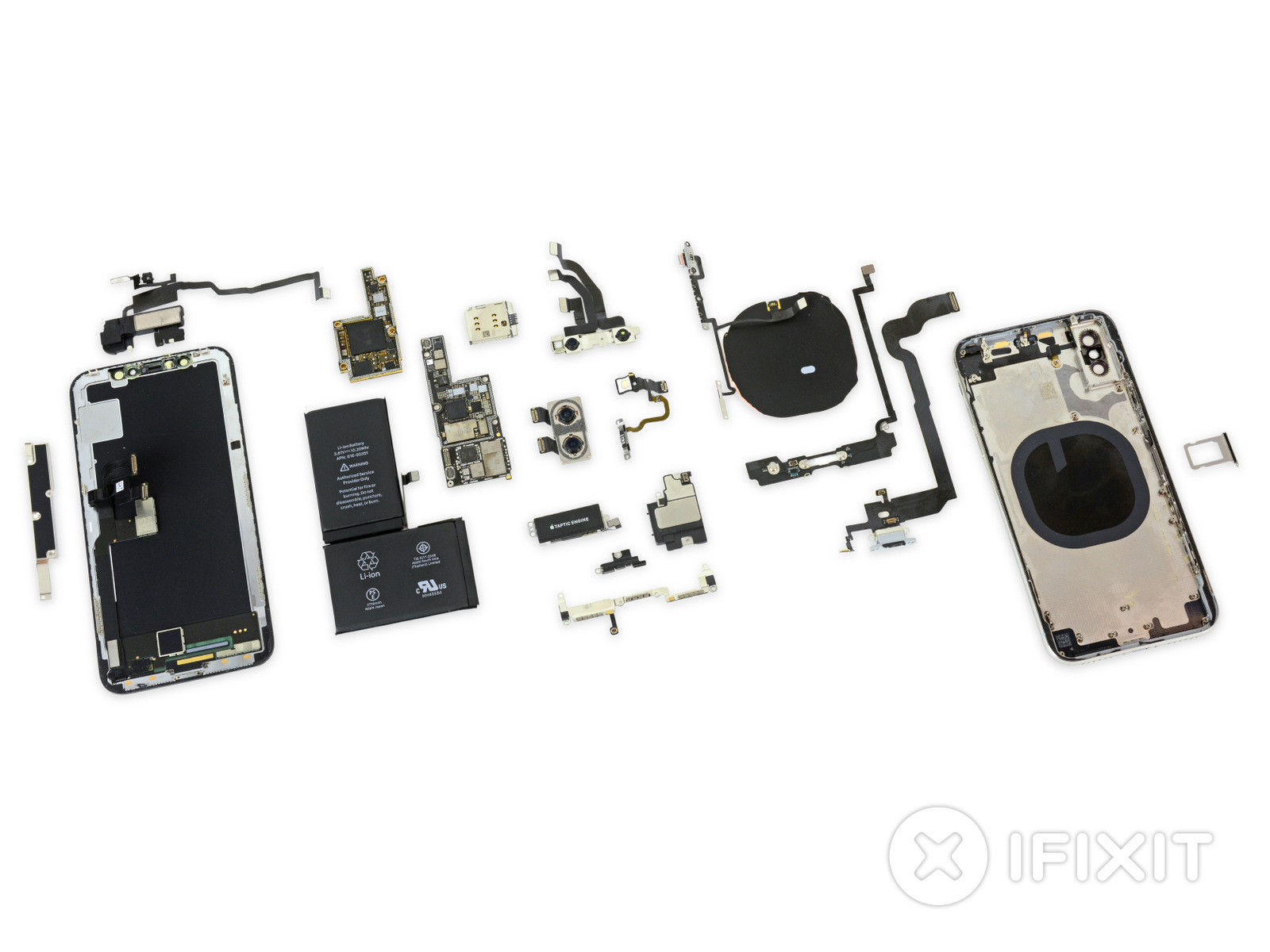 Iphone X Ifixit Teardown Exposes Face Id Reveals Two Battery Cells Circuit Breaker Replacement Project Carries Environmental Benefit The Components Vs First Generation Photo