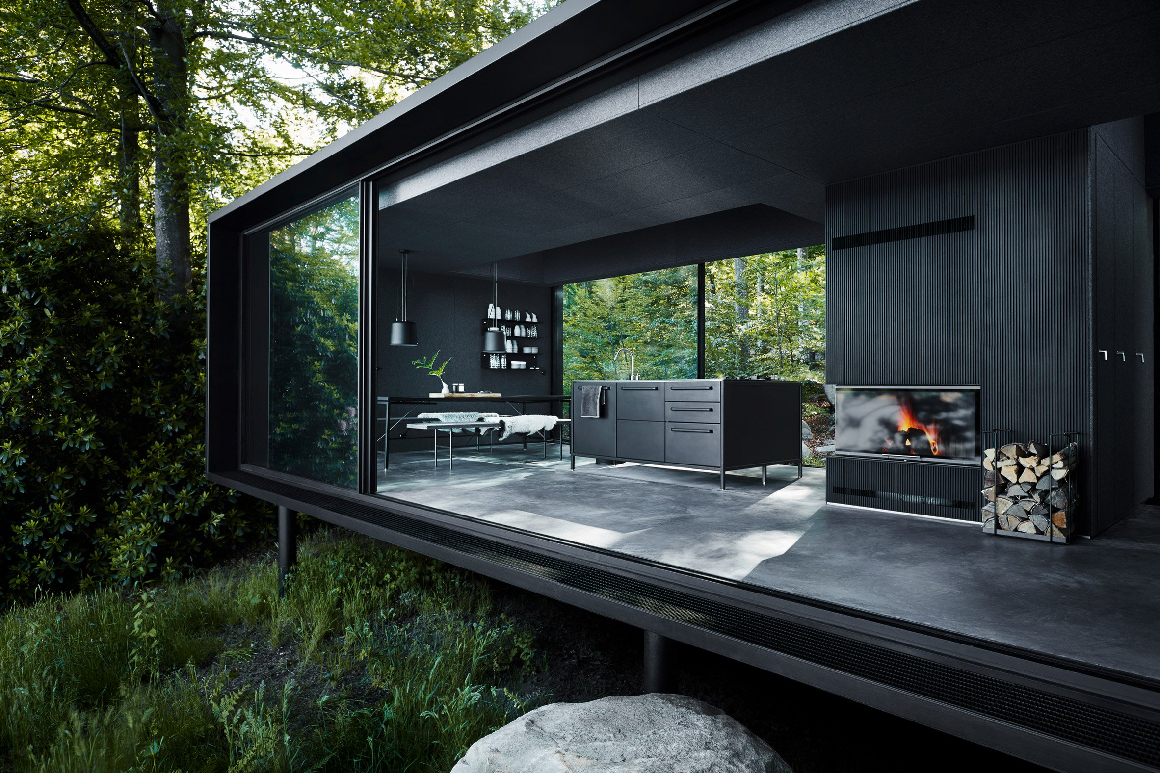 Vipp offers its sleek prefabs as vacation rentals now curbed for Small private hotels
