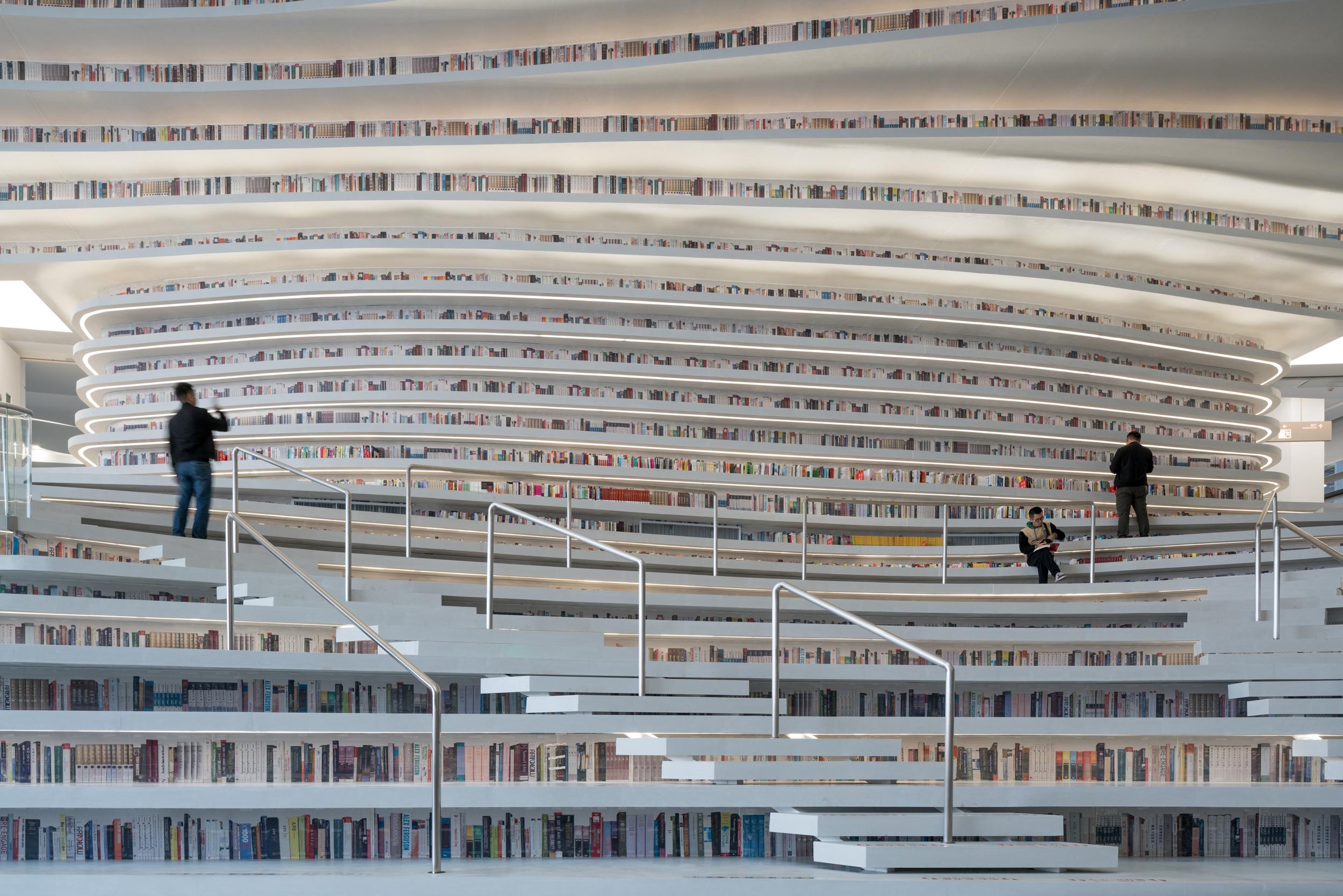 MVRDV Library, Glowing And Undulating, Opens In China